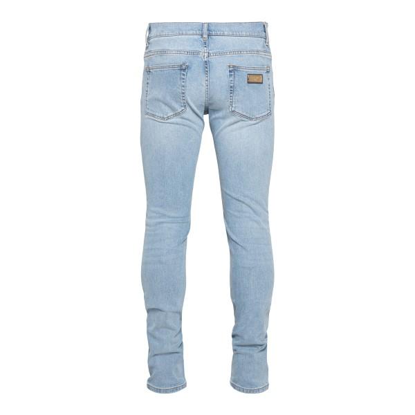 Straight jeans in light blue denim                                                                                                                     DOLCE&GABBANA