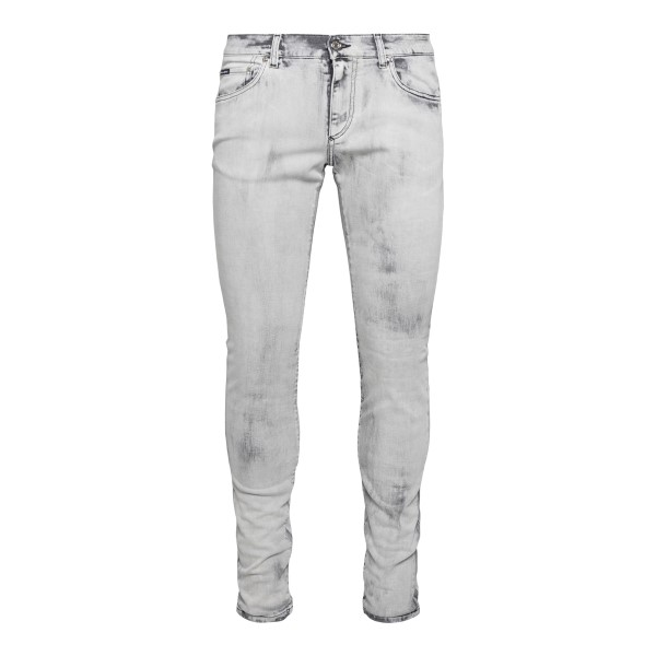 Slim grey jeans with faded effect                                                                                                                      DOLCE&GABBANA