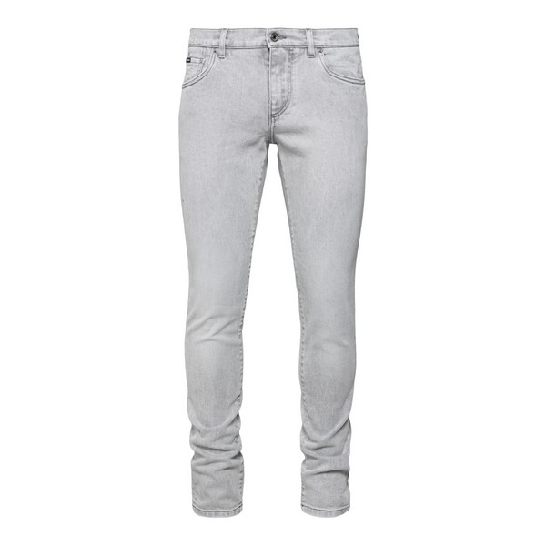 Light grey jeans with logo patch                                                                                                                      Dolce&gabbana GY07LD front