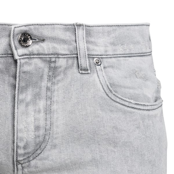 Jeans grigio chiaro con patch logo                                                                                                                     DOLCE&GABBANA                                      DOLCE&GABBANA