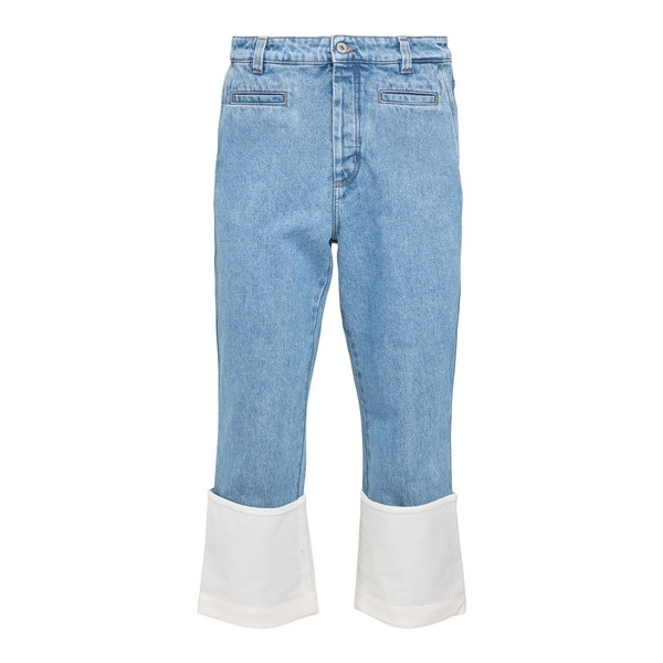 Cropped jeans with turn-up                                                                                                                            Loewe H526331X95 front