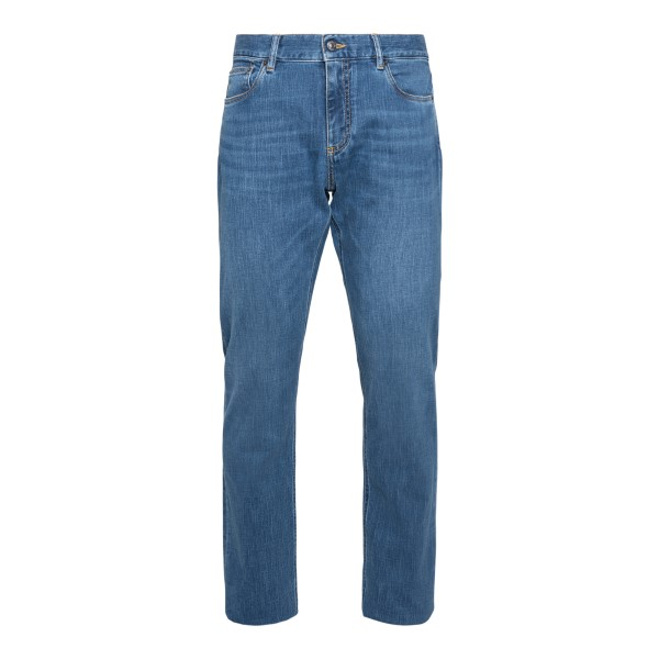 Classic blue denim jeans                                                                                                                              Zegna JS01 back