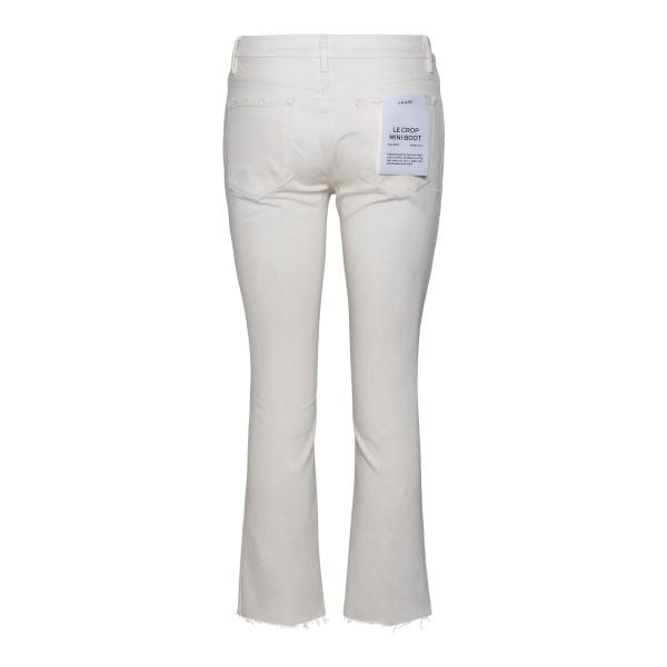 White cropped jeans                                                                                                                                    FRAME DENIM