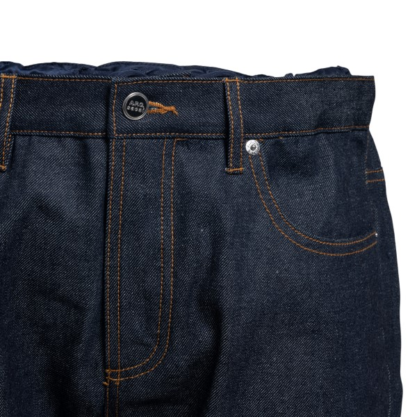 Straight blue jeans with side details                                                                                                                  A.P.C. X SACAI