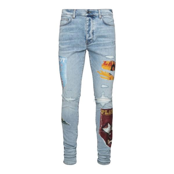 Jeans skinny con toppe                                                                                                                                 AMIRI                                              AMIRI