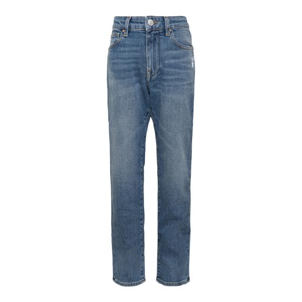 Jeans blu con stampa a righe sul retro                                                                                                                 OFF WHITE                                          OFF WHITE