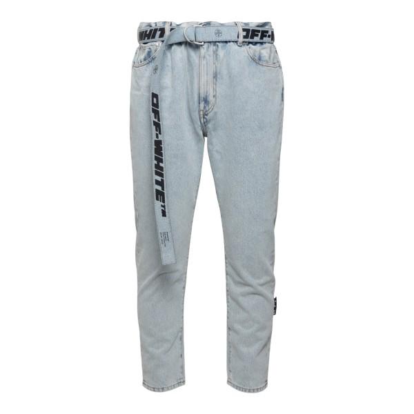 Jeans azzurri con cintura                                                                                                                             Off White OMYA005R21DEN002 retro