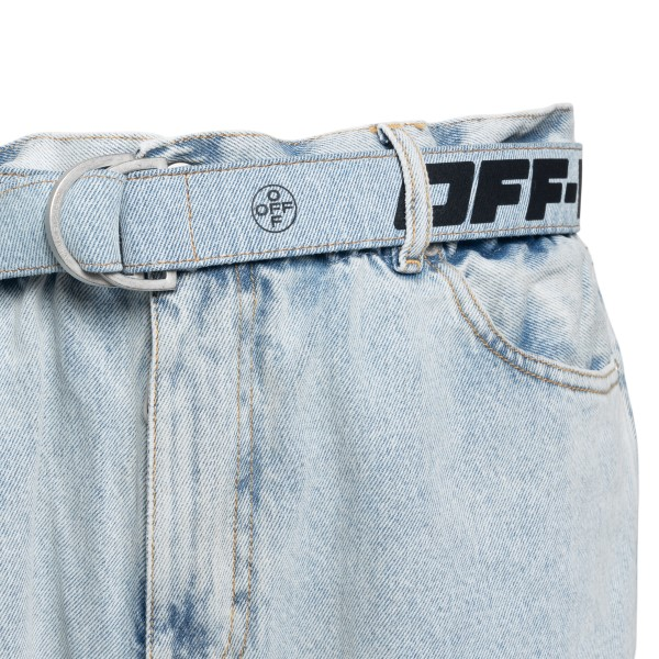 Light blue jeans with belt                                                                                                                             OFF WHITE