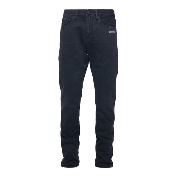 Jeans neri con stampe bianche                                                                                                                         Off white OMYA011F20DEN006 fronte