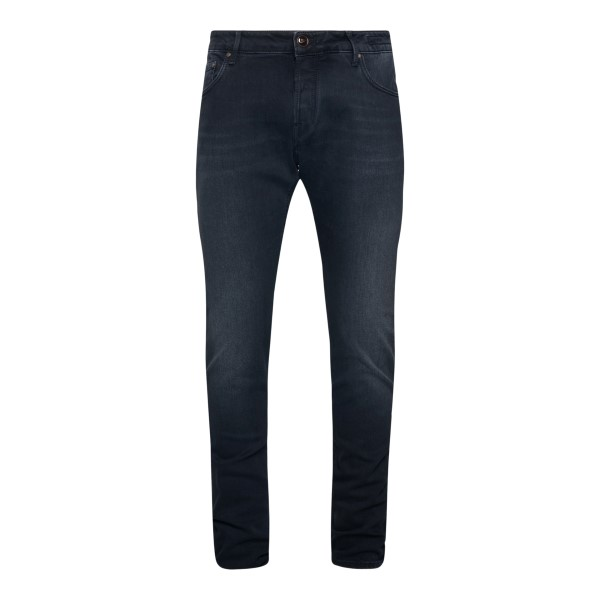 Straight jeans in black                                                                                                                               Hand Picked ORVIETO back