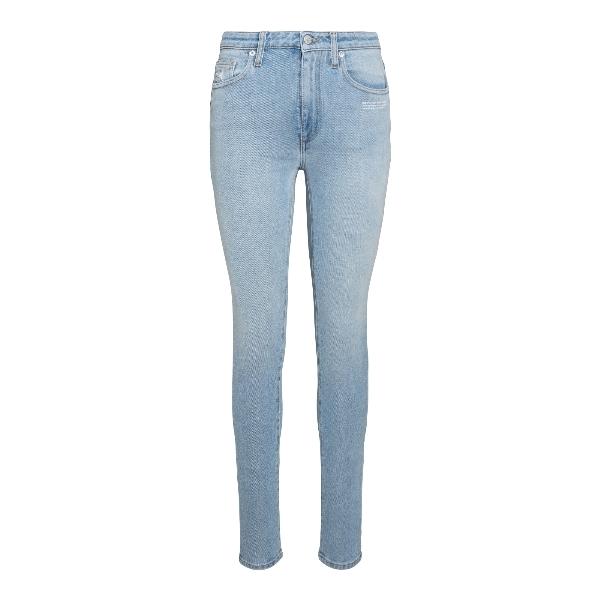 Jeans skinny in denim azzurro                                                                                                                         Off White OWYA003R21DEN001 retro