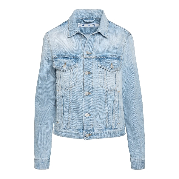 Light blue denim jacket with print on the bac                                                                                                         Off white OWYE012R21DEN001 front