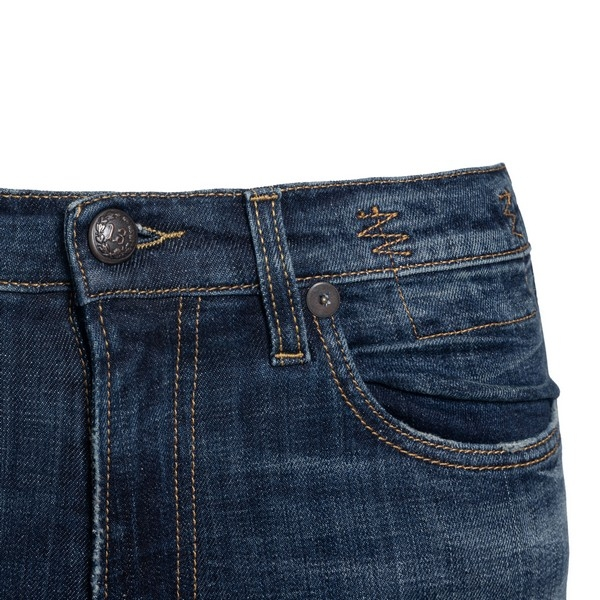 Blue stretch cotton high-rise skinny jeans                                                                                                             R13