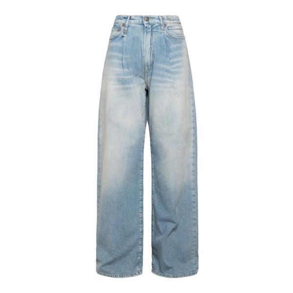 Jeans azzurri a gamba ampia                                                                                                                            R13                                                R13