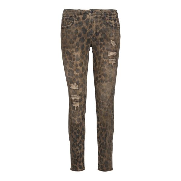 Jeans skinny marroni animalier                                                                                                                         R13                                                R13