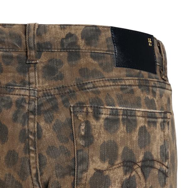 Brown animalier skinny jeans                                                                                                                           R13