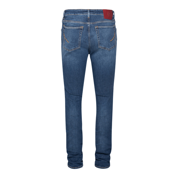 Blue jeans with logo patch                                                                                                                             HAND PICKED