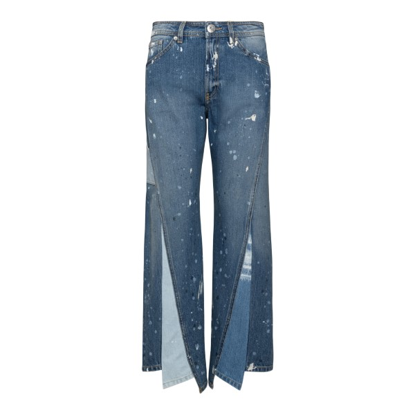 Wide leg jeans with stain effect                                                                                                                       GALLERY DEPARTMENT X LANVIN