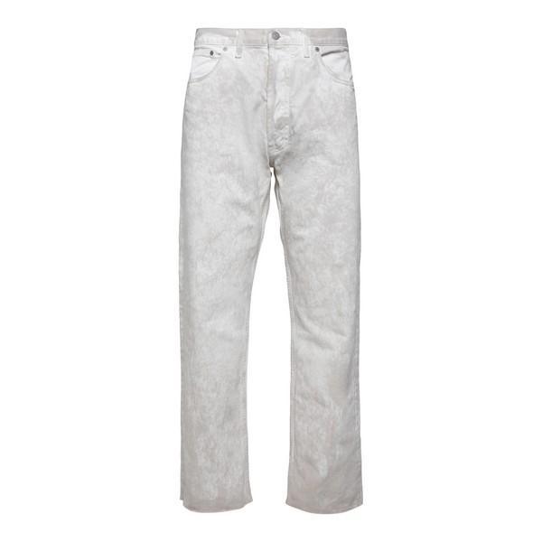Pantaloni dritti bianchi effetto slavato                                                                                                              Maison margiela S50LA0165 fronte