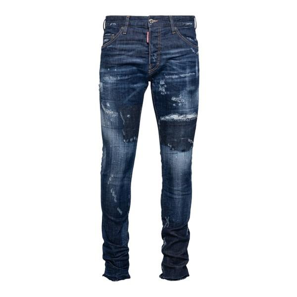 Jeans slim blu effetto vissuto                                                                                                                        Dsquared2 S71LB0816 fronte