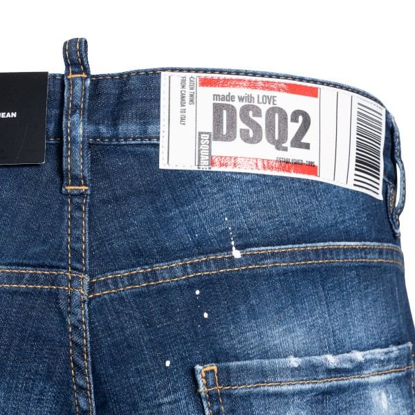 Blue skinny jeans with rips                                                                                                                            DSQUARED2