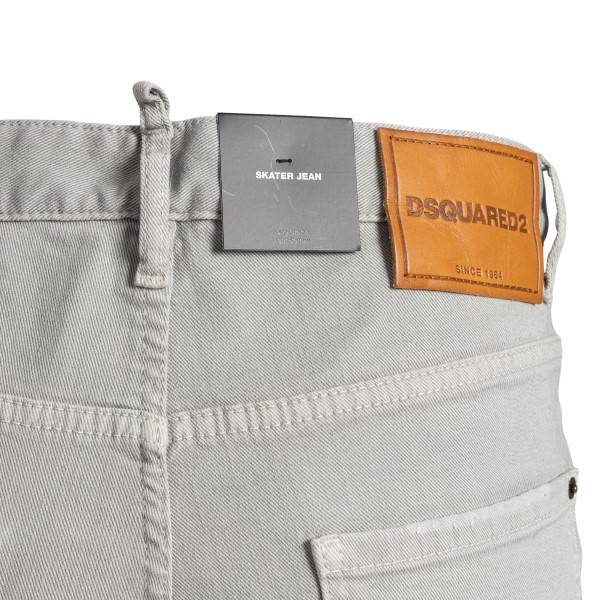 Grey skinny jeans with rips                                                                                                                            DSQUARED2