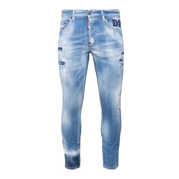 Jeans delavé con logo                                                                                                                                 Dsquared2 S74LB0851 fronte