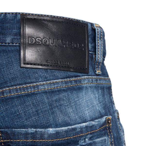 Distressed effect jeans with logo                                                                                                                      DSQUARED2