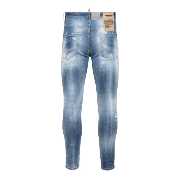 Blue distressed skinny jeans                                                                                                                           DSQUARED2
