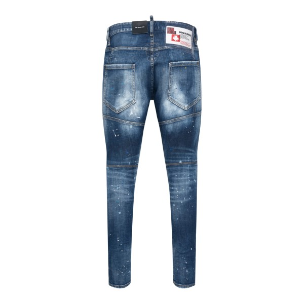 Distressed-effect blue skinny jeans                                                                                                                    DSQUARED2