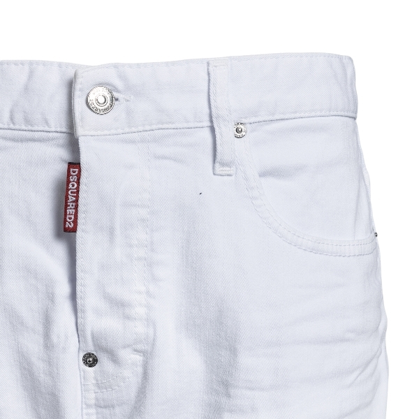White cropped jeans                                                                                                                                    DSQUARED2