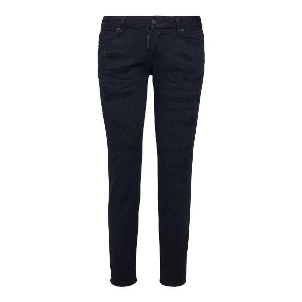Distressed black jeans                                                                                                                                Dsquared2 S75LB0434 front