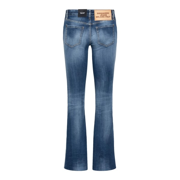 Flared jeans with faded effect                                                                                                                         DSQUARED2