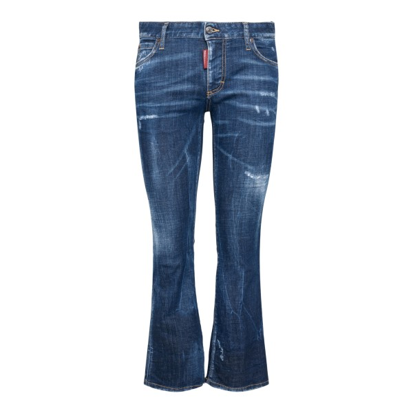 Distressed-effect cropped jeans                                                                                                                        DSQUARED2