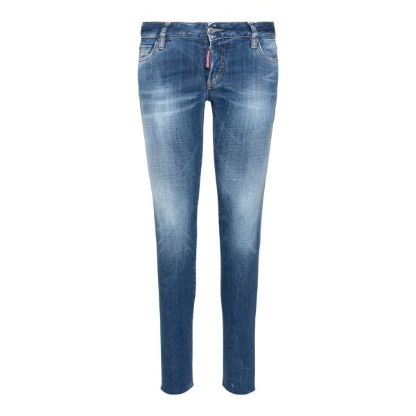Lightened blue skinny jeans                                                                                                                           Dsquared2 S75LB0522 back