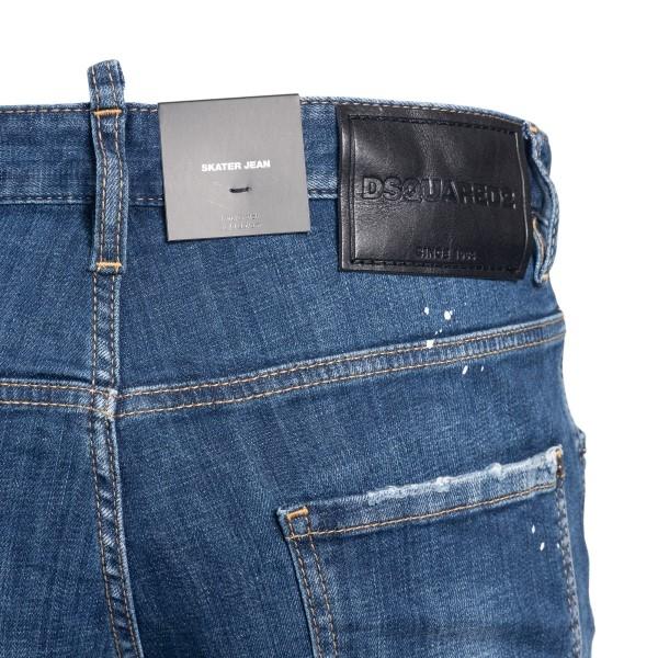 Jeans blu con stampa logo                                                                                                                              DSQUARED2                                          DSQUARED2