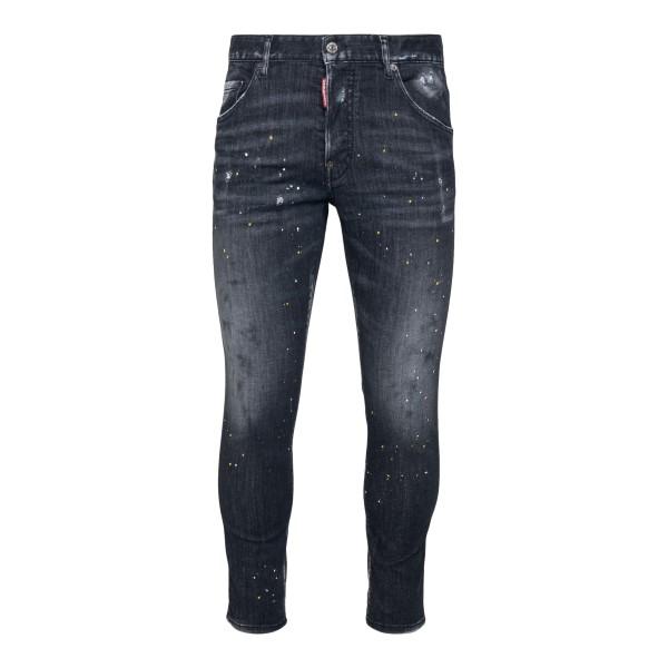 Jeans skinny neri con macchie di vernice                                                                                                              Dsquared2 S79LA0026 retro