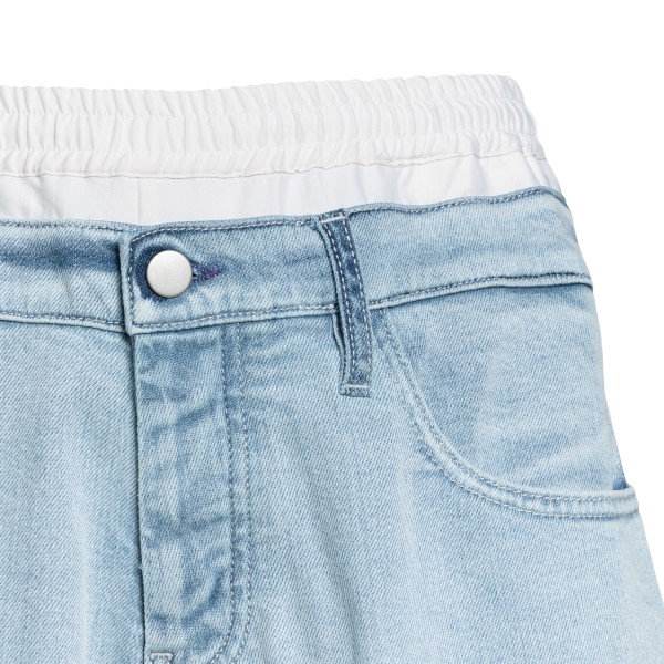 Denim Bermuda shorts with contrasting bands                                                                                                            KOCHE'