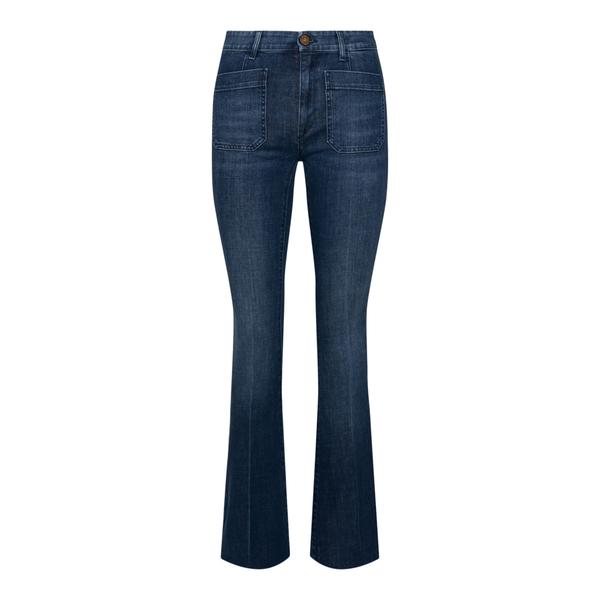 Flared jeans in blue denim                                                                                                                             SEAFARER
