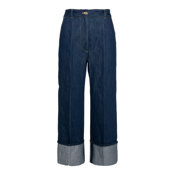 Dark blue jeans with cuff                                                                                                                             Patou TR0030008602D front