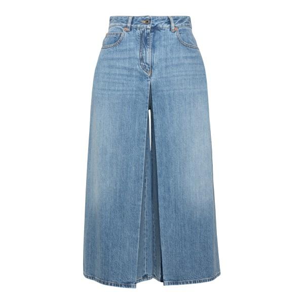 Jeans azzurri a gamba ampia                                                                                                                           Valentino VB3DD11I retro