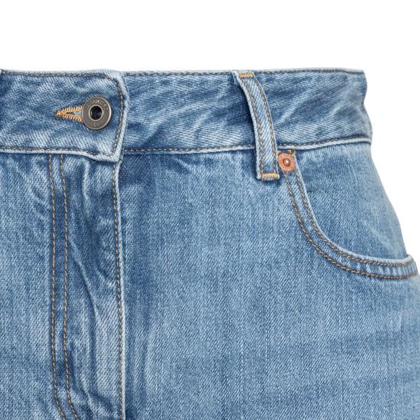 Wide leg blue jeans                                                                                                                                    VALENTINO