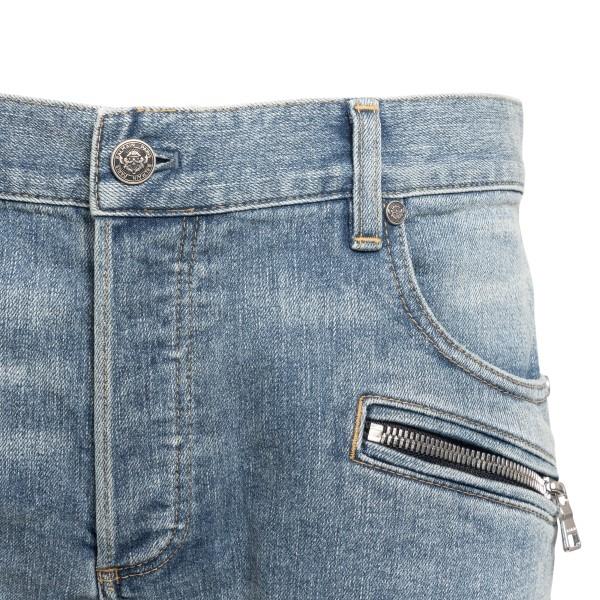 Light blue skinny jeans with stitching                                                                                                                 BALMAIN