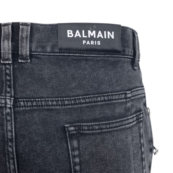 Black jeans with ribbed details                                                                                                                        BALMAIN