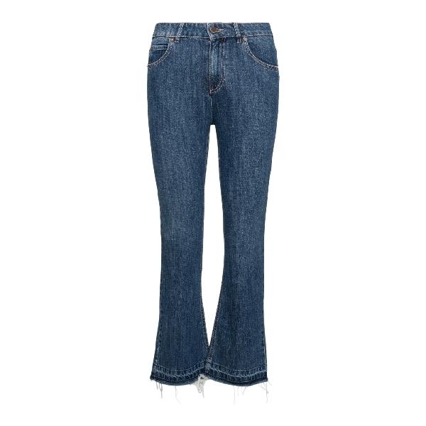 Jeans a zampa in denim blu                                                                                                                             RED VALENTINO                                      RED VALENTINO