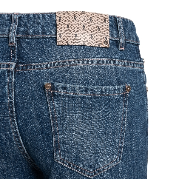Flared jeans in blue denim                                                                                                                             RED VALENTINO