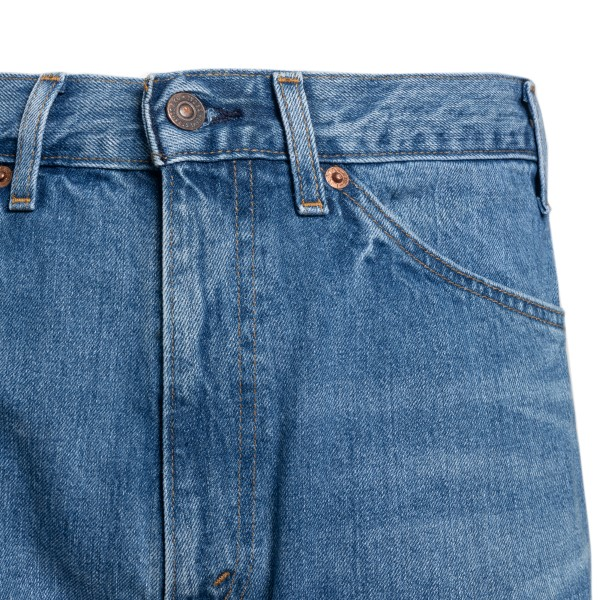 Jeans blu svasati con patch logo                                                                                                                       VALENTINO VALENTINO