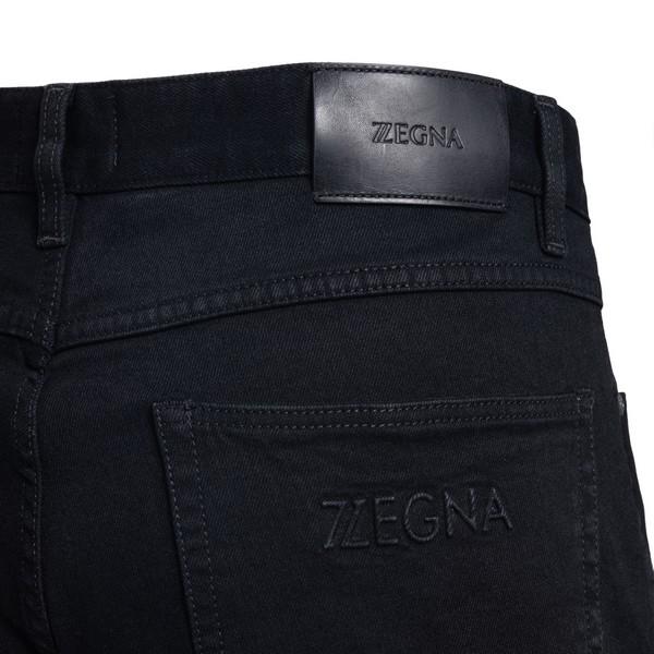 Jeans neri con logo ricamato                                                                                                                           ZEGNA