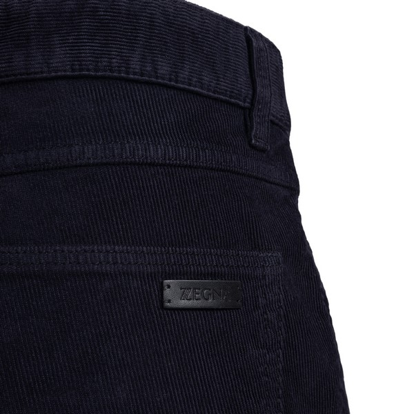 Ribbed dark blue trousers                                                                                                                              ZEGNA