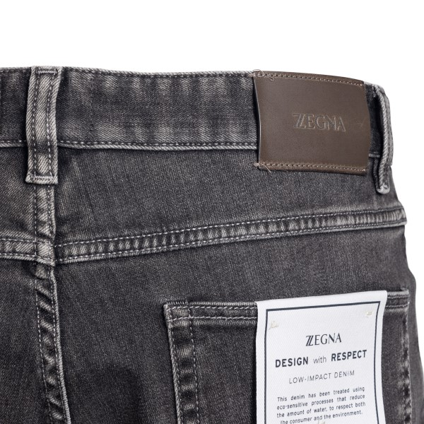 Straight leg jeans in dark grey                                                                                                                        ZEGNA